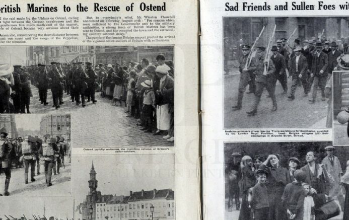 1914 WW1 Magazine BELGIAN REFUGEES Vise Looting MONS Belgrade Bombarded WAR (30)